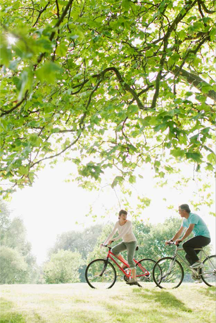 Couple biking at Parkwood Place Park